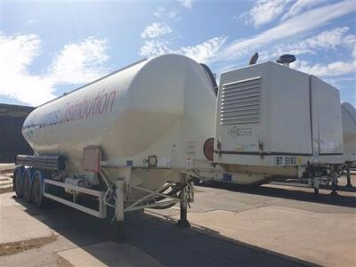 2011 Feldbinder 43m³ 3 Pot Belly Triaxle Tanker Trailer