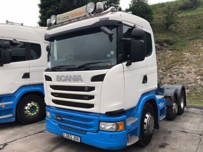 2013 SCANIA G480 Mini Midlift 6x2 Tractor Unit
