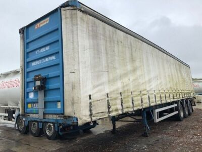 2002 Fruehauf Triaxle Curtainside Trailer