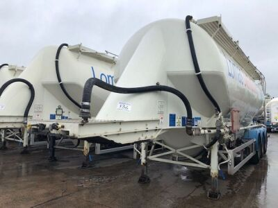 2011 Feldbinder 43m³ Triaxle 3 Pot Belly Tanker Trailer