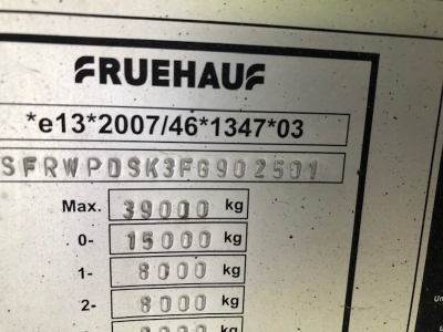 2015 Fruehauf 72yrd³ Plank Side Triaxle Tipping Trailer - 4