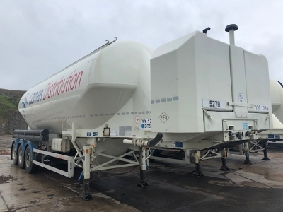 2016 Feldbinder 40m³ 2 Pot Belly Triaxle Tanker Trailer