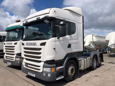 2014 SCANIA R440 Highline 6x2 Rear Lift Tractor Unit