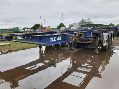 2007 SDC Triaxle Sliding Skeletal Trailer