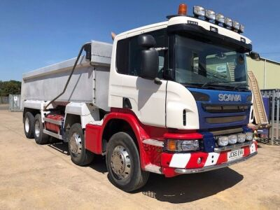 2015 Scania P410 8x4 Alloy Body Aggregate Tipper