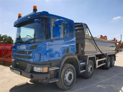 2015 Scania P410 Euro 6 Steel Body 8x4 Tipper