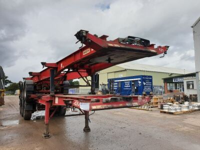 2006 Dennison Triaxle Sliding Skeletal Trailer