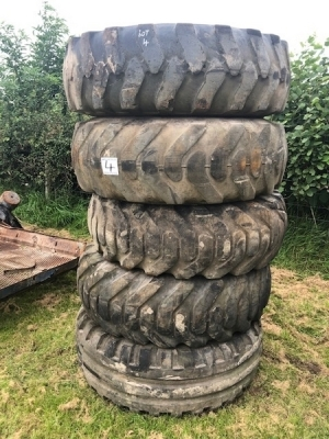Qty of Plant Wheels & Tyres