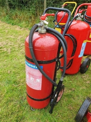 4 x High Pressure Powder Fire Extinguishers
