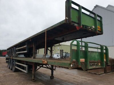 2002 Montracon Triaxle Flat Trailer