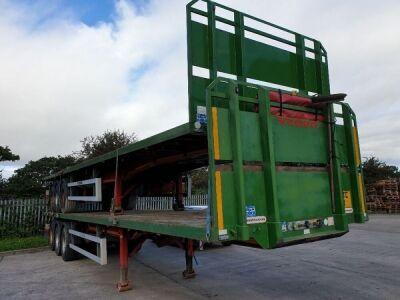 2014 Montracon Triaxle Flat Trailer