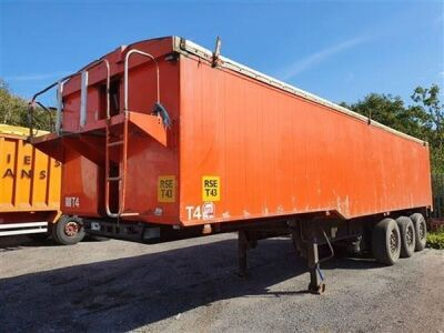 1999 United 60yrd³ Alloy Body Tipping Trailer
