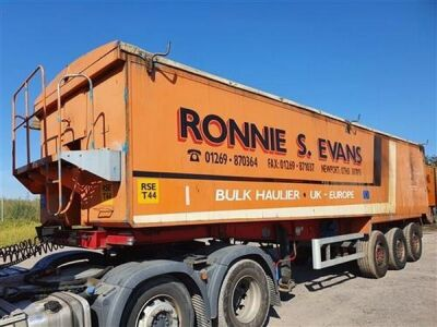 2004 United 60yrd³ Alloy Body Tipping Trailer