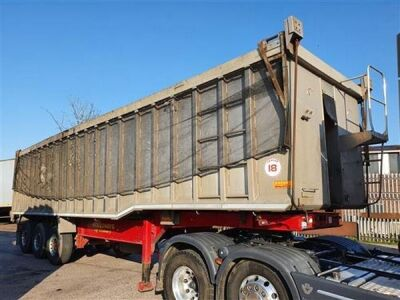 2013 Wilcox Alloy Body Steel Floor Coil Carrier 75yrd3 Tipping Trailer