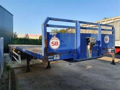 2005 SDC Triaxle Extendable Flat Trailer