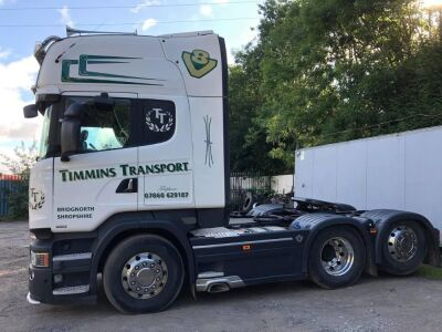 2015 (65) Scania R520 V8 Topline 6x2 Rear Lift Tractor Unit