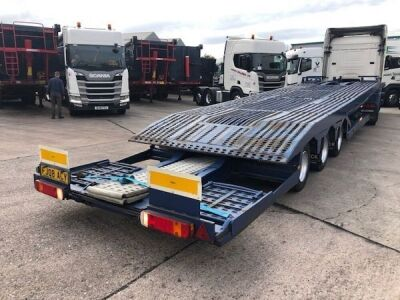 1998 Lohr Triaxle 2 Deck Car Transporter Trailer