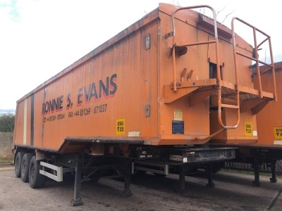 2001 Weightlifter 65yrd³ Alloy Body Tipping Trailer