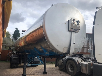 1994 Crane Fruehauf Single Axle Tanker Trailer
