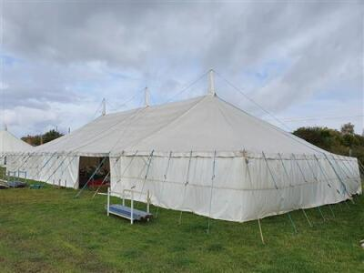 Complete 40ft x 80ft Traditional Pole Marquee,