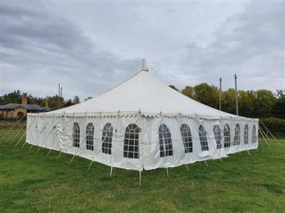 Complete 40ft x 80ft Traditional Pole Marquee