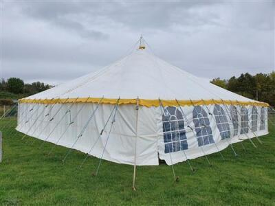 Complete 40ft x 60ft Traditional Pole Marquee