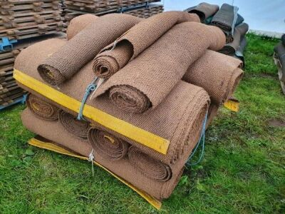 14 x Rolls 4' 6' Various Length Natural Matting