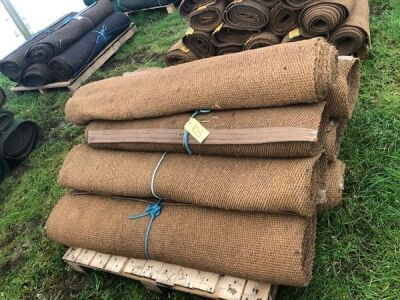 "10 x Rolls 4' x 6"" Various Length Natural Matting"