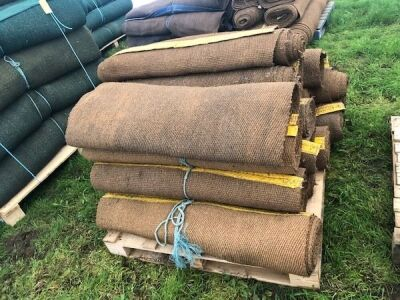 16 x Rolls 20ft Various Width Natural Matting