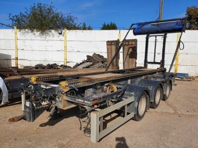 2005 Boughton Triaxle Drawbar Big Hook Bin Trailer