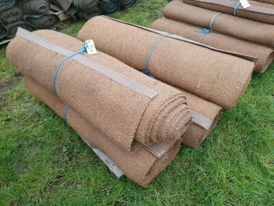 "5 x Rolls 4' 6"" x 12M Various Length Natural Matting"