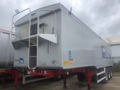 2010 Wilcox 68yd Planksided Alloy Body Tipping Trailer