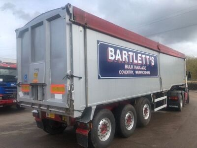 2010 Wilcox 68yd Planksided Alloy Body Tipping Trailer - 5