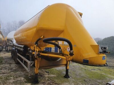 2015 Feldbinder 40m³ 3 Pot Cement Tanker Trailer