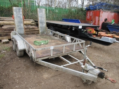 Indespension Tandem Axle Drawbar Plant Trailer