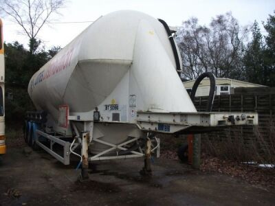 2008 Feldbinder 50m³ Triaxle 3 Pot Powder Tanker Trailer