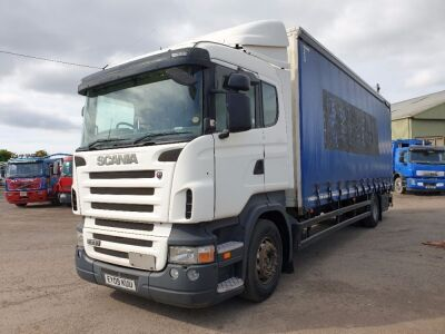 2009 Scania P230 4x2 Curtainside Rigid