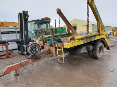 Single Axle Drawbar Skip Loader Trailer