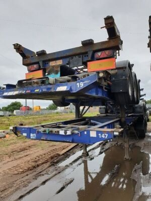 2007 Montracon Triaxle Sliding Skeletal Trailer