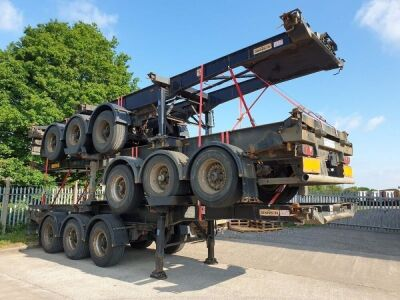 2007 Dennison Triaxle Skeletal Trailer