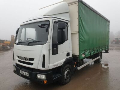 2012 IVECO Eurocargo 75 E16 4x2 Curtainside Rigid, Automatic