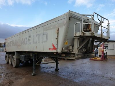 2004 Stas Aggregate Plank Sided Tipping Trailer Tri Axle