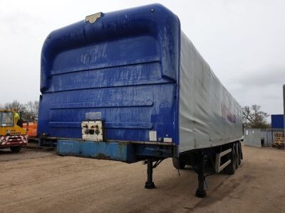 1999 Crane Fruehauf 36' Coil Well Triaxle Trailer