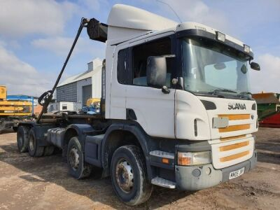 2005 SCANIA P420 8x4 Drawbar Hook Loader