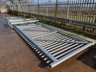 Unused Cantilever Sliding Gate