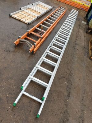 2 Stage 6m Alloy Ladder