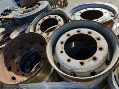 Qty of 12 Steel Trailer Rims