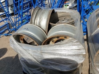 Qty of 10 Assorted Steel Rims
