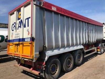2013 Fruehauf Triaxle Alloy Bulk Tipping Trailer