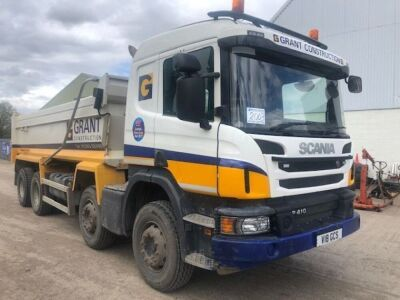 2017 Scania P410 8x4 Steel Body Tipper